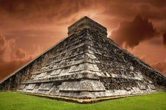 Chichen Itza. Ancient Mayan pyramid, Kukulcan Temple at Chichen Itza, Yucatan, Mexico Royalty Free Stock Photography