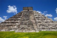 Chichen Itza. Ancient Mayan pyramid, Kukulcan Temple at Chichen Itza, Yucatan, Mexico Stock Image