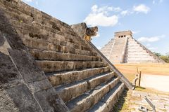Chichen Itza archaeological site in Yucatan Mexico Royalty Free Stock Photos