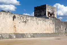 Chichen Itza, Ball court. Stock Images