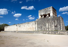 Chichen Itza, Ball court. Royalty Free Stock Photography