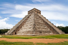 Chichen Itza Castle. Temple of Kukulkan, a Mesoamerican step-pyramid that dominates the center of the Chichen Itza archaeological site in the Mexican state of Stock Images