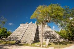 Chichen Itza Ceremonial Pyramid, Yucatan, Mexico. Chichen Itza Ceremonial Pyramid in Yucatan, Mexico Royalty Free Stock Images
