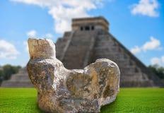 Chichen Itza Chac Mool sculpture illustration stock photos