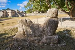 Chichen Itza Chac Mool sculpture Yucatan stock image