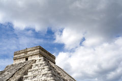 Chichen Itza and the clouds Stock Images