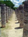 Chichen itza colonnade. Ruins of a colonnade in maya city chichen itza Stock Photos