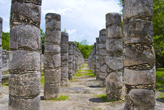 Chichen Itza Colonnade Stock Photo