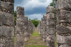 Chichen Itza columns, Mexico. Chichen Itza set of rocky columns, Mexico Stock Photo