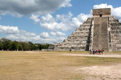 Chichen Itza Crowd Royalty Free Stock Photography