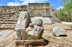 Chichen Itza - detail. Mayan ruins in Mexico, Chichen Itza Royalty Free Stock Photos