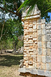 Chichen Itza - detail. Mayan ruins in Mexico, Chichen Itza Royalty Free Stock Photo