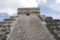 Chichen Itza, East side of El Castillo Stock Image