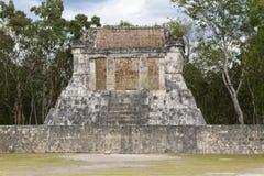 Chichen Itza, een deel van het Grote Hof van de Bal Royalty-vrije Stock Fotografie