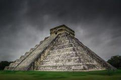 Chichen Itza El Castillo Mayan Pyramide in Yucatan Mexico Royalty-vrije Stock Afbeeldingen