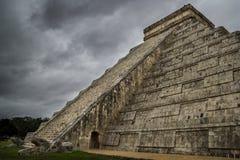 Chichen Itza El Castillo Mayan Pyramide in Yucatan Mexico Royalty-vrije Stock Foto