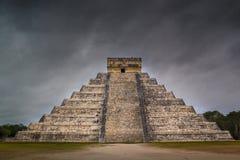 Chichen Itza El Castillo Mayan Pyramide in Yucatan Mexico Royalty Free Stock Photo