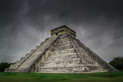 Chichen Itza El Castillo Mayan Pyramide in Yucatan Mexico royalty free stock images