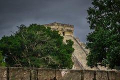 Chichen Itza El Castillo Mayan Pyramide in Yucatan Mexico Royalty Free Stock Image