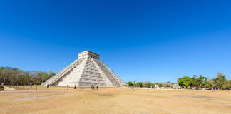 Chichen Itza - El Castillo Pyramid - Ancient Maya Temple Ruins in Yucatan, Mexico. Travel destination royalty free stock image