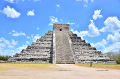 Chichen Itza - El Castillo,Temple of Kukulkan Stock Photos
