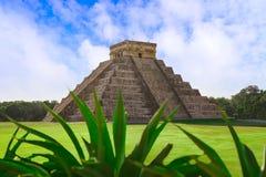 Chichen Itza El Templo Kukulcan tempel Arkivfoto