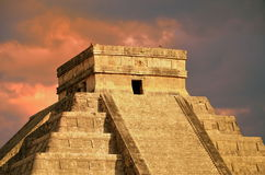 Chichen Itza equinox Kukulkan temple Royalty Free Stock Photography