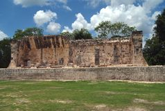 Chichen Itza fördärvar i Mexico Fotografering för Bildbyråer