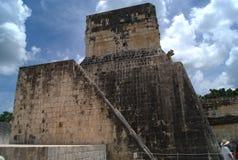 Chichen Itza fördärvar i Mexico Arkivbild