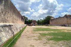 Chichen Itza fördärvar i Mexico Arkivbilder