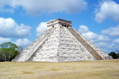Chichen itza. The famous mayan pyramid of chichen itza in mexico Stock Photos