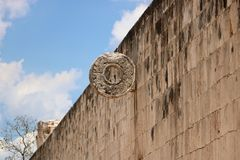 Chichen Itza The Grand Ball Court Royalty Free Stock Photography