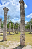 Chichen Itza - Group of a Thousand Columns Stock Image