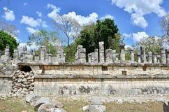 Chichen Itza - Group of a Thousand Columns Stock Photos