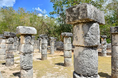 Chichen Itza - Group of a Thousand Columns Royalty Free Stock Photos