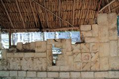 Chichen Itza hieroglyphics Mayan ruins Mexico Royalty Free Stock Photo
