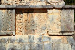 Chichen Itza hieroglyphics Mayan ruins Mexico Stock Photography