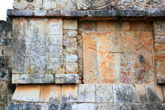 Chichen Itza hieroglyphics Mayan ruins Mexico Stock Photo
