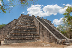 Chichen Itza. High Priest Temple Royalty Free Stock Photo