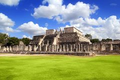 Chichen Itza Krieger-TempelLos guerreros Mexiko Stockbilder