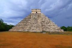 Chichen Itza Kukulcan Mayan templey Mexico Arkivfoto