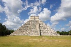 Chichen Itza. The Kukulkan Pyramid in Chichen Itza, Mexico Stock Photo