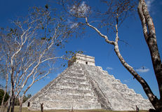 Chichen Itza Kukulkan temple Royalty Free Stock Image