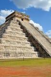 Chichen Itza Kukulkan temple. Pyramid Mexico Royalty Free Stock Photos
