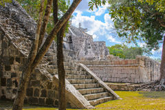 Chichen Itza, a large pre-Columbian city built by the Maya civil Royalty Free Stock Photo