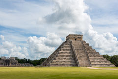 Chichen Itza Main Building. Mayan Historic Building. Traveling C Stock Photography