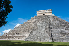 Chichen Itza Main Building. Mayan Historic Building. Traveling C Stock Photo