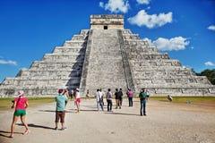 chichen itza majskiego Mexico ostrosłup Zdjęcia Royalty Free
