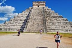 chichen itza majskiego Mexico ostrosłup Zdjęcia Stock