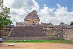 Chichen Itza Maya Ruins Observatory temple in Yucatan, Mexico stock images